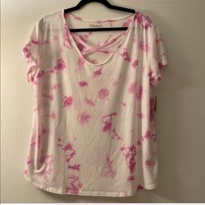 Dip dyed Criss cross front tee